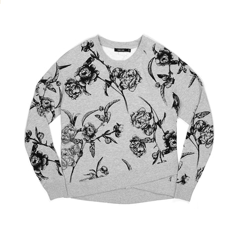Obey Wmns Alden Crewneck Heather Grey - Concrete