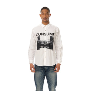 NEIGHBORHOOD | NHON . CONSUME / C-Shirt LS White - Concrete