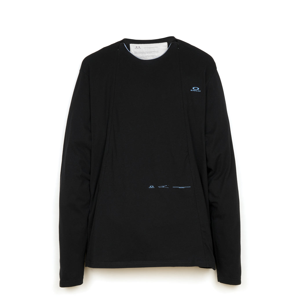 OAKLEY by Samuel Ross | Skydiver Zipped L/S T-Shirt Black - Concrete