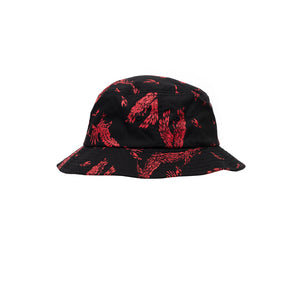 Obey Death Touch Bucket Hat Red Multi - Concrete