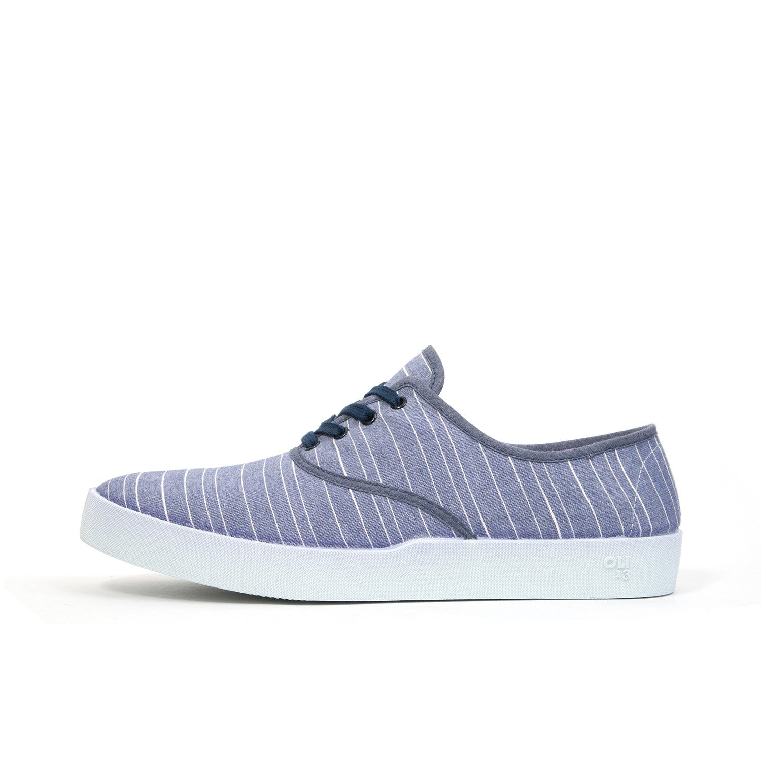 Oli 13 Oxford Canvas Stripe/White - Concrete
