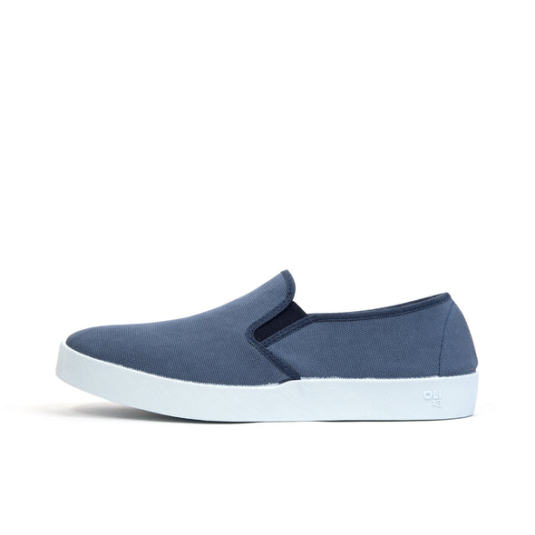 Oli 13 Slip-On Canvas Fea/White - Concrete