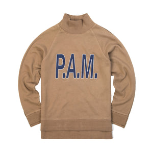 Perks and Mini (P.A.M.) | W Box Hi Neck Sweat Sienna - Concrete
