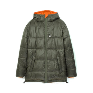 Perks and Mini (P.A.M.) | First Contact Puffer Jacket Army/Orange - Concrete
