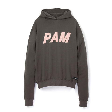 Perks and Mini (P.A.M.) Ancient Gates Logo Hoodie Mid Grey