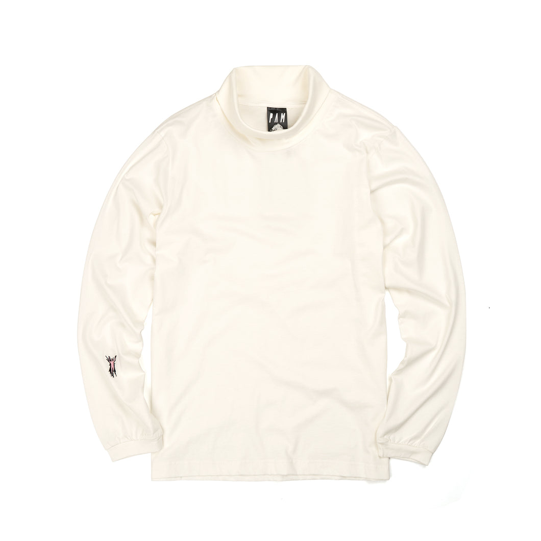 Perks and Mini (P.A.M.) Supima Roll Neck Top White