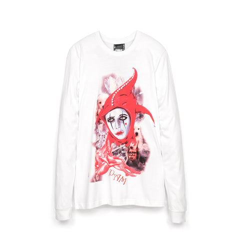 Perks and Mini (P.A.M.) Playing The Fool L/S T-Shirt White