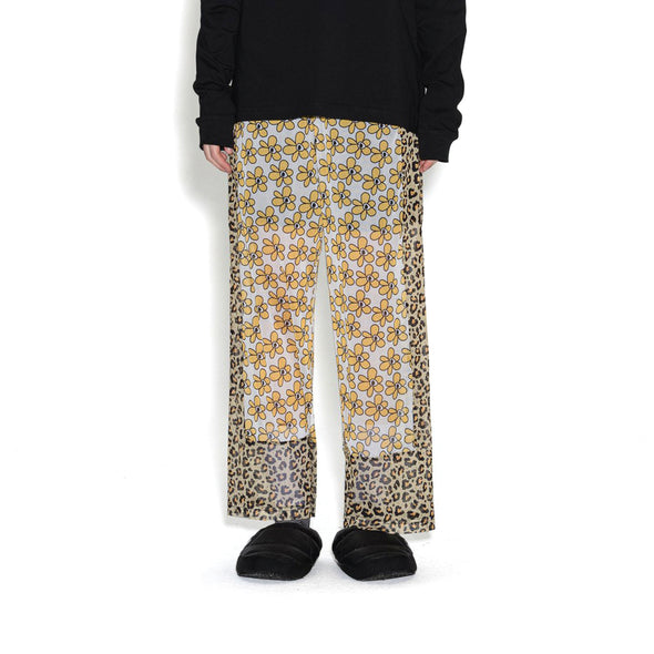Perks and Mini (P.A.M.) | Kissing Frogs Mesh Trousers Animal Daisies - Concrete