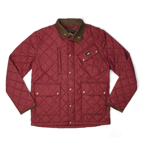Penfield Colwood Quilted Trail Jacket Burgundy - Concrete