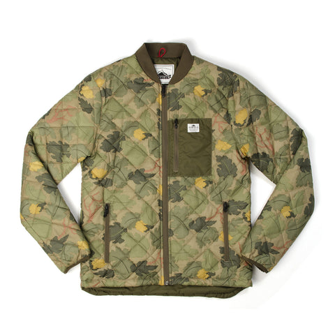 Penfield Kasota Camo Quilted Layer Jacket Olive - Concrete