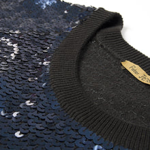 Load image into Gallery viewer, Peter Jensen Wmns Sequin Jumper Black/Navy - Concrete
