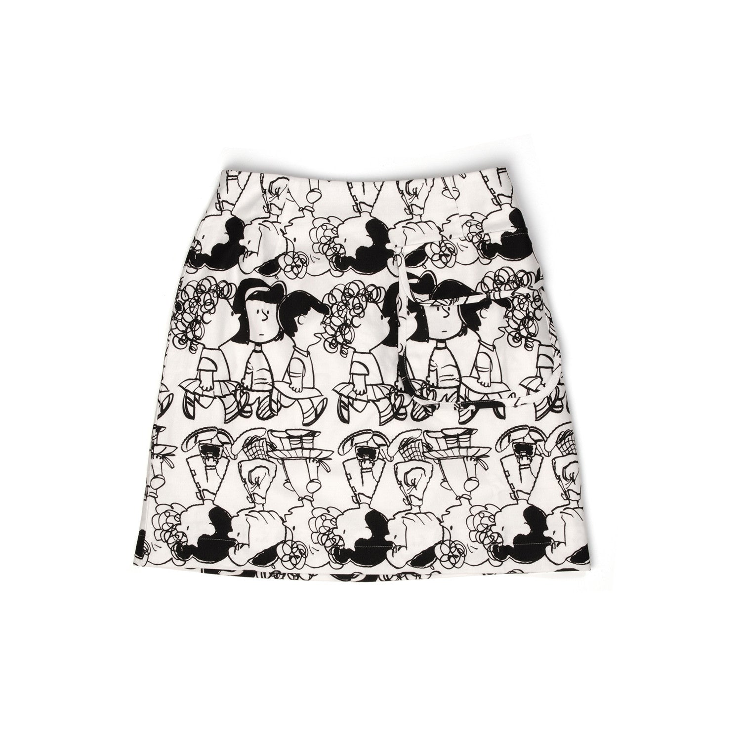 Peter Jensen Womens A-Line Skirt With Pocket Black/White - Concrete