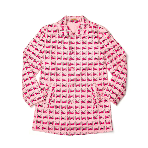 Peter Jensen Womens 'Peter' Coat Pink Bow - Concrete
