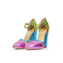 Load image into Gallery viewer, Peter Jensen Womens Glitter Sandals - Concrete