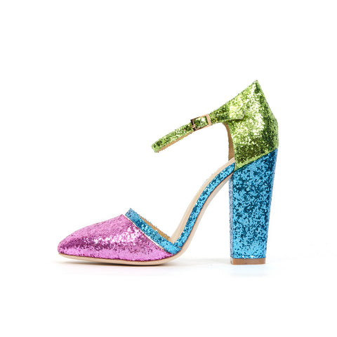 Peter Jensen Womens Glitter Sandals - Concrete