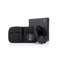 Load image into Gallery viewer, maharishi x Hyperdub Travel Waist Bag + AiAiAi Headphone Pack Black