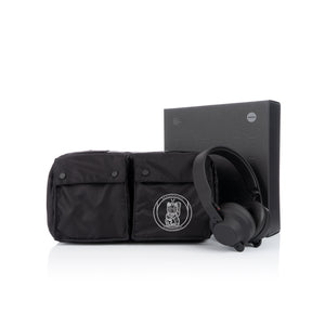maharishi x Hyperdub Travel Waist Bag + AiAiAi Headphone Pack Black
