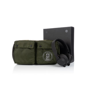 maharishi | x Hyperdub Travel Waist Bag + AiAiAi Headphone Pack Olive