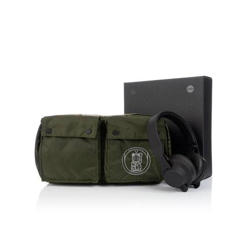 maharishi x Hyperdub Travel Waist Bag + AiAiAi Headphone Pack Olive