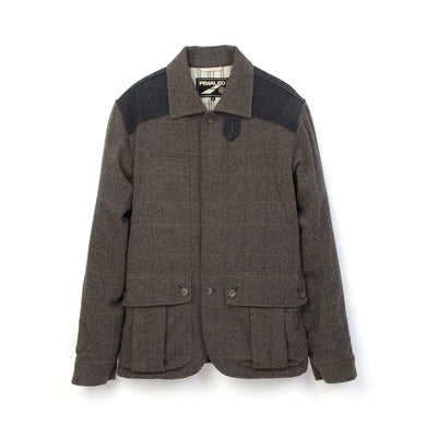 PEdALED Saddle Work Jacket Brown/Grey - Concrete