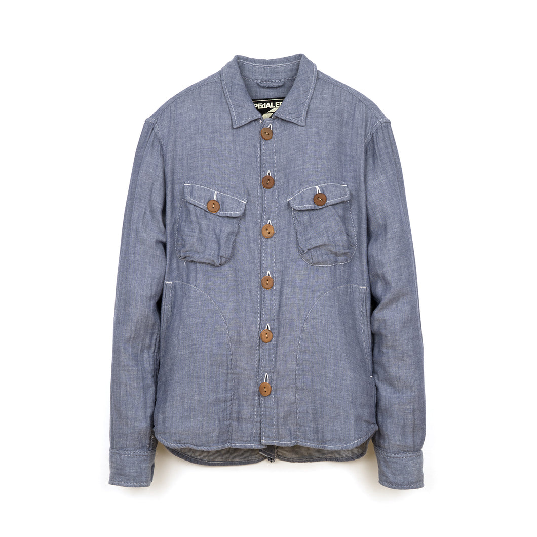 PEdALED Bike CPO Shirt Indigo - Concrete