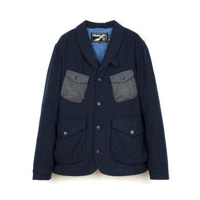 PEdALED Hacking Jacket Navy - Concrete
