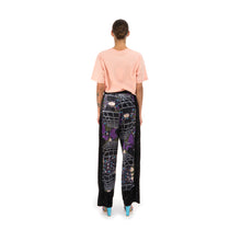 Load image into Gallery viewer, Perks and Mini (P.A.M.) | Far Far Away Velvet Trousers Cosmic Camo Print - Concrete