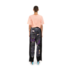 Perks and Mini (P.A.M.) | Far Far Away Velvet Trousers Cosmic Camo Print - Concrete