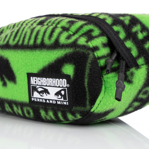 Perks and Mini (P.A.M.) | x NEIGHBORHOOD Fleece Waistbag Black - Concrete