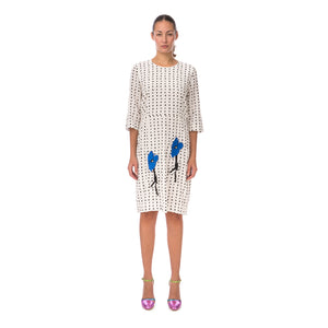 Peter Jensen | W Demi Sleeve Dress with Embroidery Polkadot White - Concrete