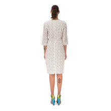 將圖像加載到畫廊查看器中Peter Jensen | W Demi Sleeve Dress with Embroidery Polkadot White - Concrete