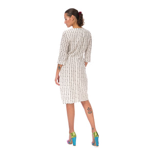Peter Jensen W Demi Sleeve Dress with Embroidery Polkadot