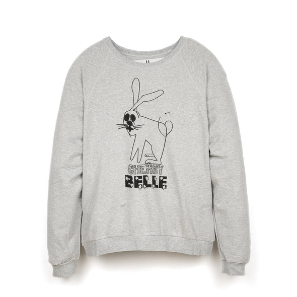 Peter Jensen M Cherry Belle Sweatshirt Grey - Concrete