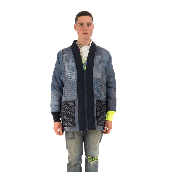 Poggy's Box | x FDMTL Boro Down Jacket Neon Boro - Concrete