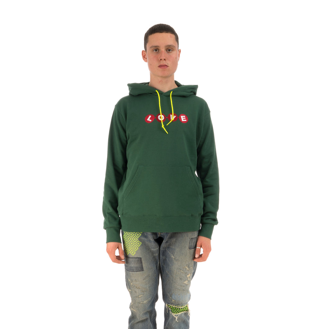 Poggy's Box | x Raccho 'Love Sweat Hoodie' Green - Concrete