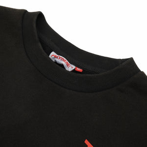 Polythene* Optics Logo Crewneck Sweater Grey - Concrete