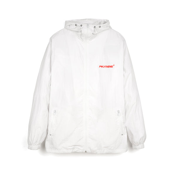 Polythene* Optics Zipped Nylon Windbreaker Jacket White