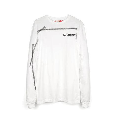 Polythene* Optics Nails Long Sleeve T-Shirt White