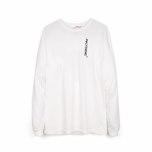 Polythene* Optics | Metal Rod Long Sleeve T-Shirt White - Concrete