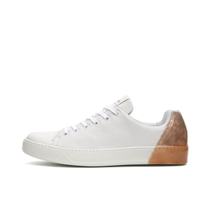 Premiata Polo Bianco Marrone - Concrete