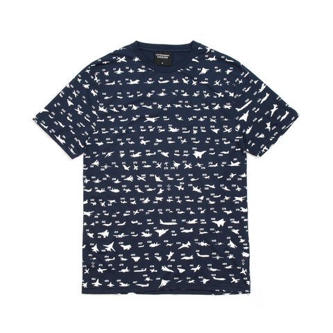 Christopher Raeburn Aircraft Recognition T-Shirt Navy
