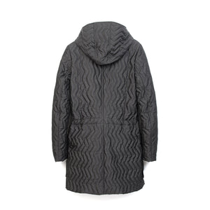 Christopher Raeburn Womens Zig Zag Quilted Coat Black