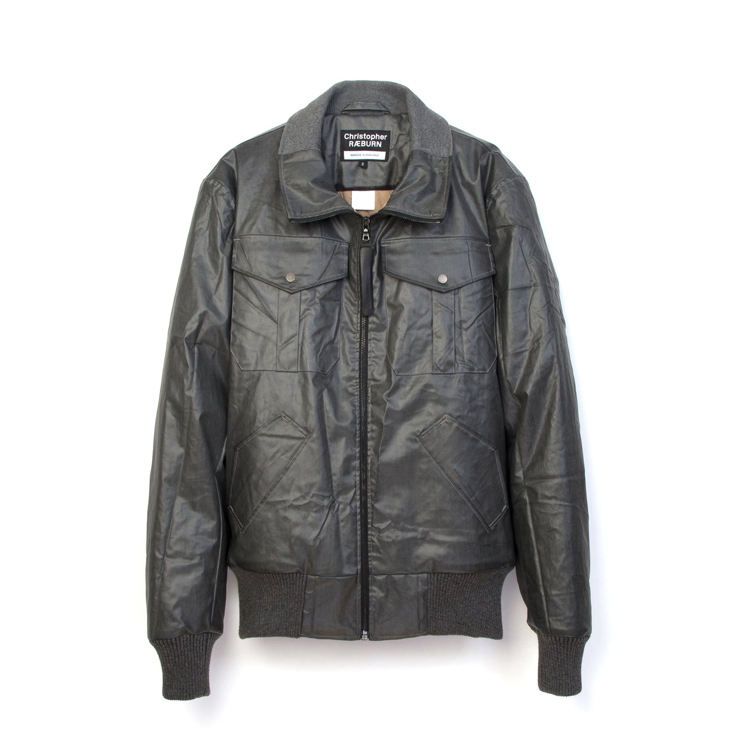 Christopher Raeburn Remade Zip Front Bomber Charcoal