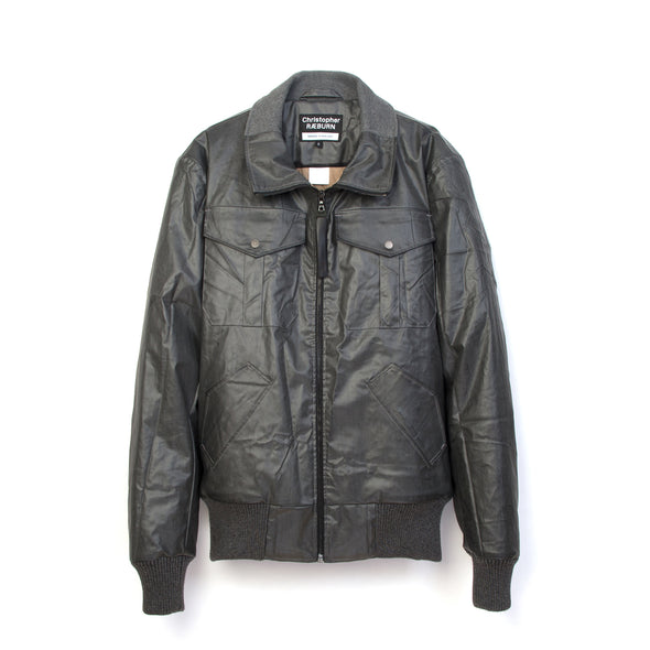 Christopher Raeburn Remade Zip Front Bomber Charcoal - Concrete
