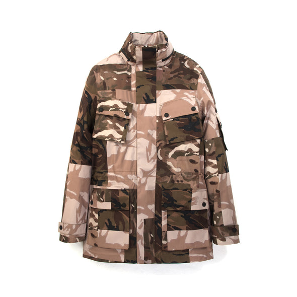 Christopher Raeburn x Save The Duck Parka FLAG5 Camo - Concrete