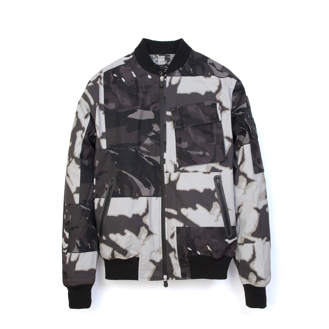 Christopher Raeburn x Save The Duck Woven Jacket FLAG6 Cage - Concrete