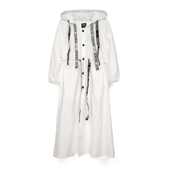 Christopher Raeburn Oversized Remade Cotton Parka White - Concrete