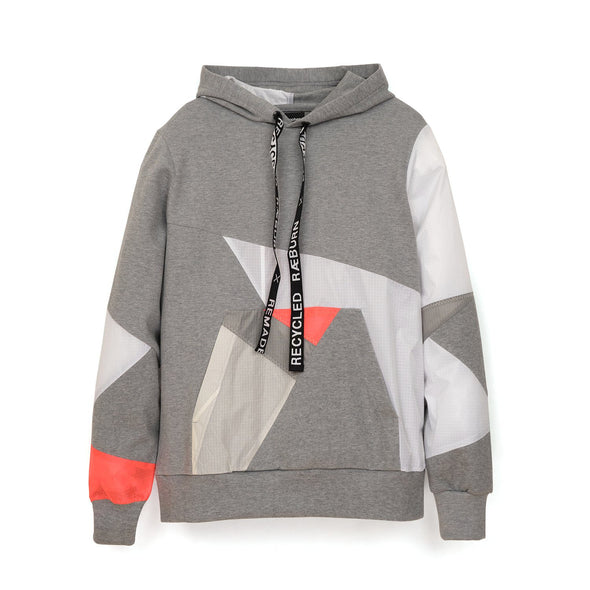 Christopher Raeburn Remade Kite Hoodie Grey/Coral