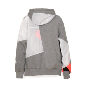 Christopher Raeburn Remade Kite Hoodie Grey/Coral - Concrete