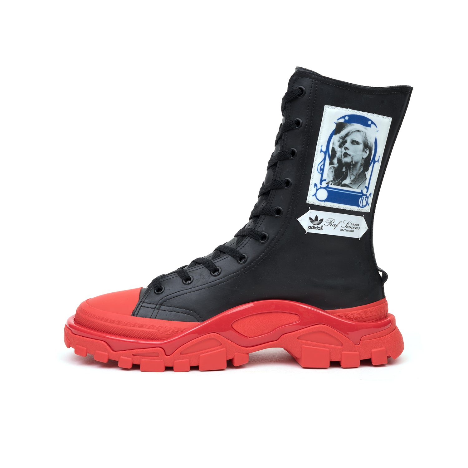 70d8d4c5ef46 adidas x Raf Simons Detroit High Black Red – Concrete